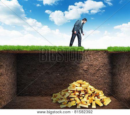Businessman found treasure in the soil