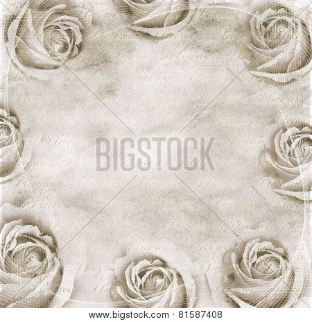 Paper Background With Roses