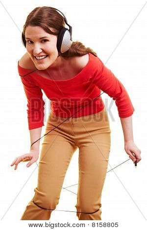Woman Getting Caught In Cables