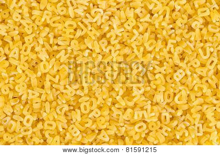 Pasta Letters Background