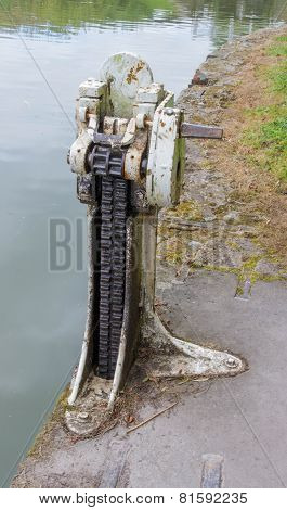 Paddle Gear Of Lock On The Kennett And Avon Canal.