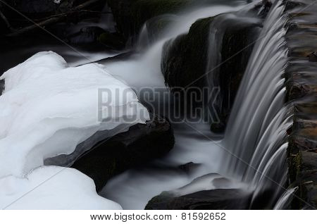 Beautiful Shipot Waterfall Cascade In Carpathian Mountains,western Ukraine