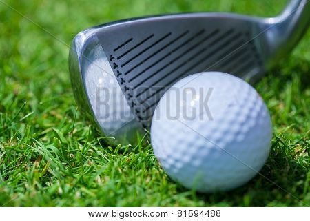 Golf Ball with iron