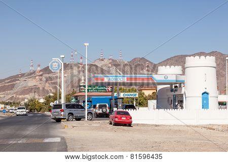 Adnoc Petrol Station In Fujairah