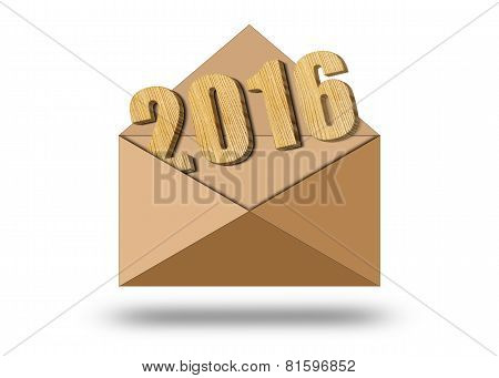Year 2016 In An Envelope