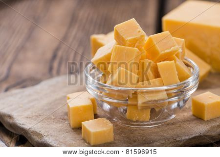 Diced Cheddar (on Wood)