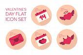 image of angel devil  - Valentines day flat icon set  - JPG