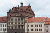 picture of city hall  - city view with town hall of Pilsen a city in the Czech Republic - JPG