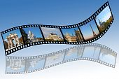 film strips with travel europe photos. All photos taken by me poster