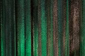 stock photo of insulator  - Thermal insulation under roof building in night scene reflect wiht green light - JPG
