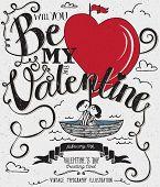 picture of sail ship  - Valentine - JPG