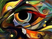 picture of intuition  - Design on the subject of intuition between parent and child made of profiles of woman and child human eye and abstract elements - JPG