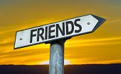 pic of bff  - Friends sign with a sunset background - JPG