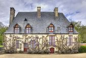 picture of poitiers  - The Chancellery the house of the estate steward located in the Diane de Poitiers garden near the Chenonceau Castle on the Loire Valley in France - JPG