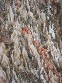 pic of crystal salt  - Natural salt crystals in nature salt mountain Cardona Catalonia Spain - JPG