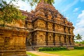 stock photo of tamil  - architecture of (entrance) Hindu Temple dedicated to Shiva ancient Gangaikonda Cholapuram Temple India Tamil Nadu Thanjavur