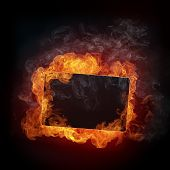 stock photo of ignite  - Illustration of Fire Background - JPG