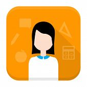 stock photo of grammar  - Flat style vector squared app icon - JPG