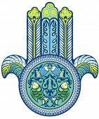 picture of hamsa  - Vector lucky symbol - JPG