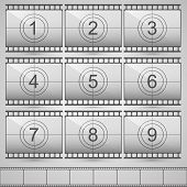 picture of countdown  - Film countdown numbers art set - JPG