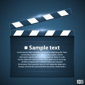 stock photo of clapper board  - Movie board slapstick art ser - JPG