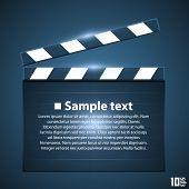 stock photo of clapper board  - Movie board slapstick art ser - JPG