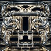 pic of wind instrument  - A Detail of a fancy brass instrument - JPG