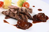 image of veal  - Tenderloin of veal with sauce of figs