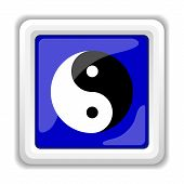 stock photo of ying-yang  - Ying yang icon - JPG