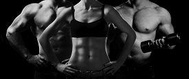 stock photo of bodybuilder  - Bodybuilding - JPG