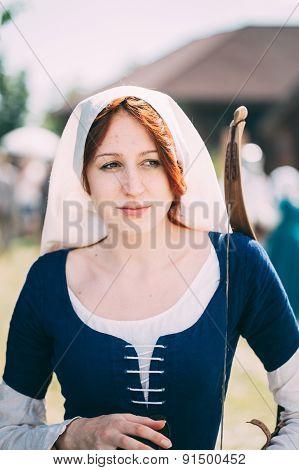 Participant of VI festival of medieval culture