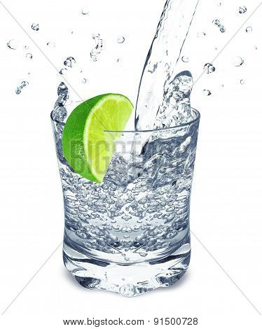lime water splash