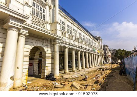 Construction Site At Connaught Place In Delhi
