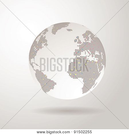 vector world globe with dots