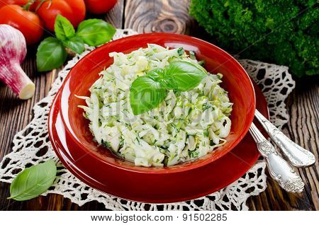 Cabbage Salad With Cucumber