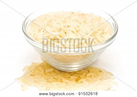 Rice Cereal In A Glass Plate
