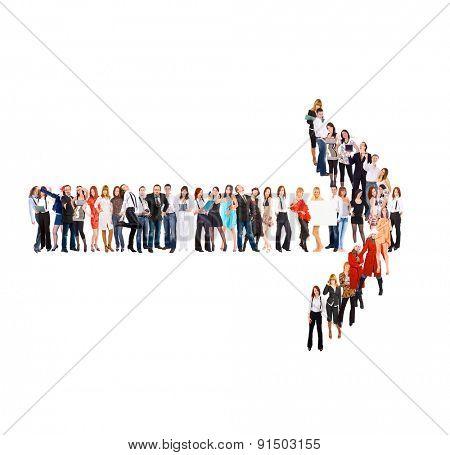 Corporate Teamwork Arrow Concept