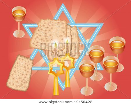 Pesach Seder Or Wine And Matza