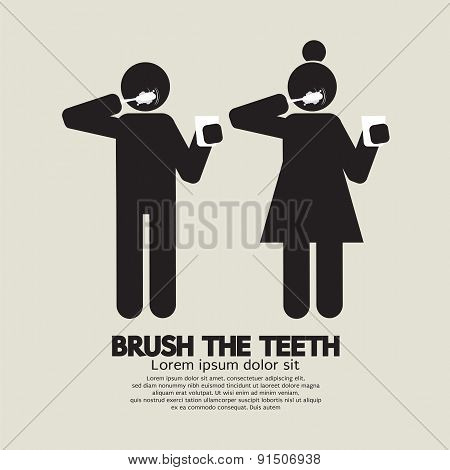 Brushes The Teeth Black.