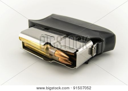 Bullets Of Hunting Rifle And Charger