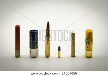 Ammunition Of Various Calibers