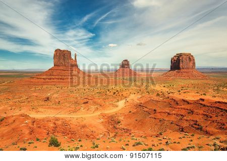 The famous Buttes of Monument Valley, Utah, USA