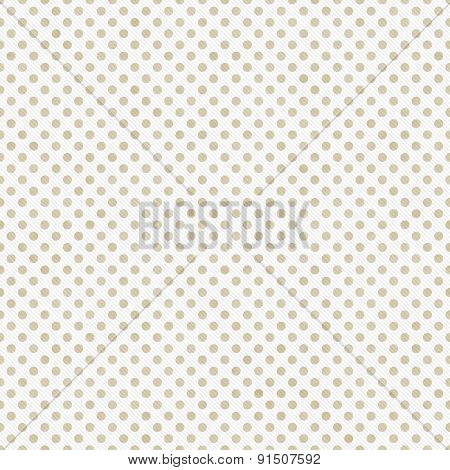 Light Beige And White Small Polka Dots Pattern Repeat Background