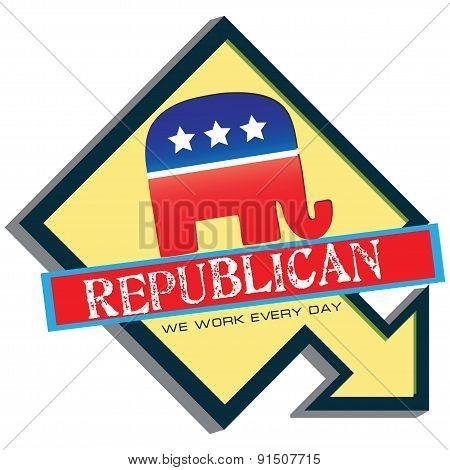 Symbol Of Us Republican Party