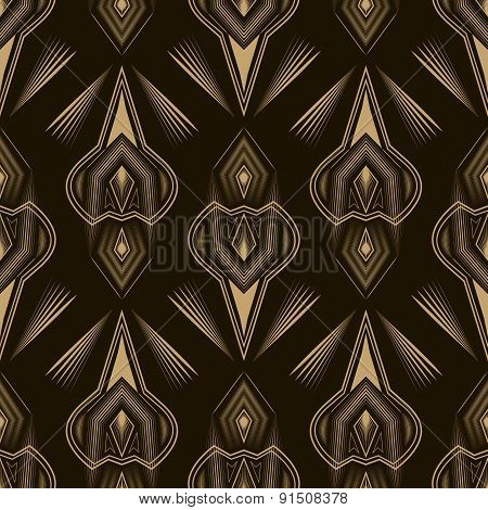Seamless Beautiful Antique Pattern Ornament. Geometric Background Vector