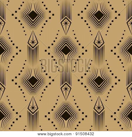 Vector Seamless Pattern Modern Stylish Texture. Repeating Geometric