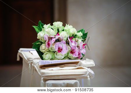 Altar With A Bouquet Of Flowers