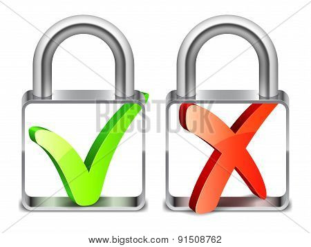 Padlocks with Check Symbols