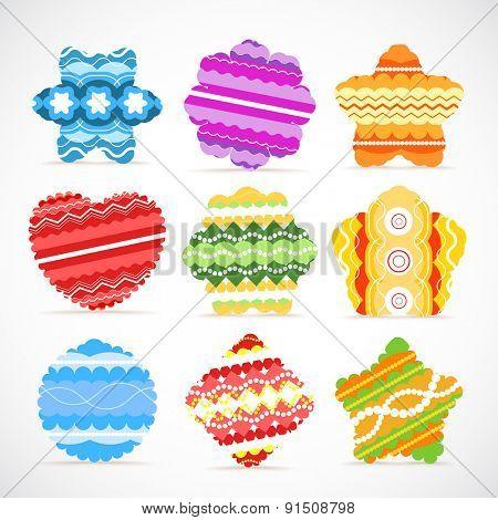 Color baubles. Raster version