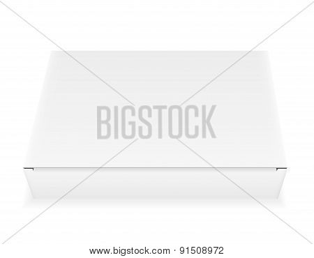 white paper carton box packing vector illustration